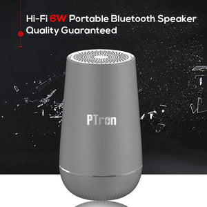 PTron Sonor Pro 4.2V Bluetooth Speaker 6W 360° Surround Sound Portable Wireless Speaker (Grey)