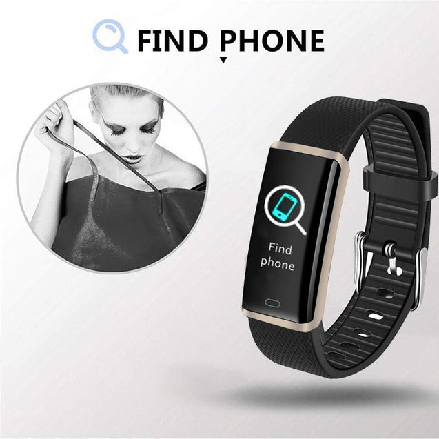PTron Pulse Fitness Activity Tracker Watch Band With Heart Rate For All Smartphones (Silver/Black)