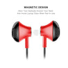 PTron InTunes Pro Magnetic Bluetooth Earphones With Mic For OnePlus 6T (Red/Black)