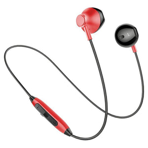 PTron InTunes Pro Magnetic Bluetooth Earphones With Mic For All Smartphones (Red/Black)