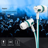 pTron HBE5 Raptor In-Ear Wired Headset with Mic for All Smartphones, Computer/Laptop - (White/Blue)