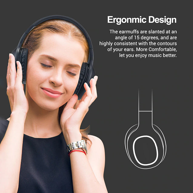 PTron Studio High Bass Over The Ear Bluetooth Headphones With 12 Hrs Music Time For All Smartphones