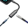 PTron Cosmo 2 in 1 Type C to 3.5mm Jack Audio Adapter Support Music Charging & Phone Call (Black)