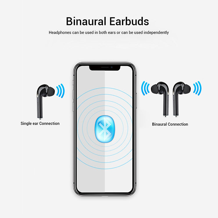 Refurbished-pTron Bassbuds Lite In-Ear True Wireless Bluetooth Earphones (TWS) with Mic - (Black)