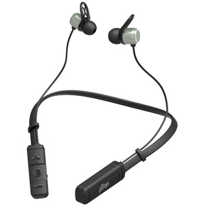 pTron InTunes Elite Bluetooth 5.0 Sports Neckband with 8 Hours Music Time & Mic - (Black/Grey)