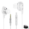 pTron Boom Pro 4D Hi-Fi Dual-driver Stereo Sound Wired Headset with Mic - (White)