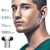 pTron Bassbuds Classic Hi-Fi True Wireless Stereo Earbuds & Mic For Galaxy M31/31S - (Black)