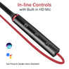 pTron InTunes Beats In-Ear Magnetic Stereo Wireless Neckband with Mic  For All Vivo Smartphones- (Black/Red)