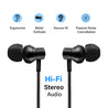 pTron InTunes Beats In-Ear Magnetic Stereo Wireless Neckband with Mic For Vivo V19 - (Black)