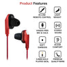 pTron Boom One In-Ear Stereo Sound Wired Earphones with Mic & Volume Control - (Red)