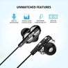 PTron Boom 3 4D Deep Bass Stereo Earphones Dual Driver Sports Headset With Mic For Vivo Z1 Pro