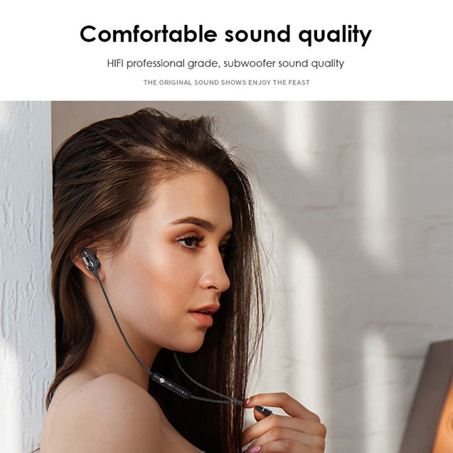 PTron Boom 3 4D Deep Bass Stereo Earphones Dual Driver Sports Headset With Mic For Xiaomi Redmi Note 5/Note 5 Pro