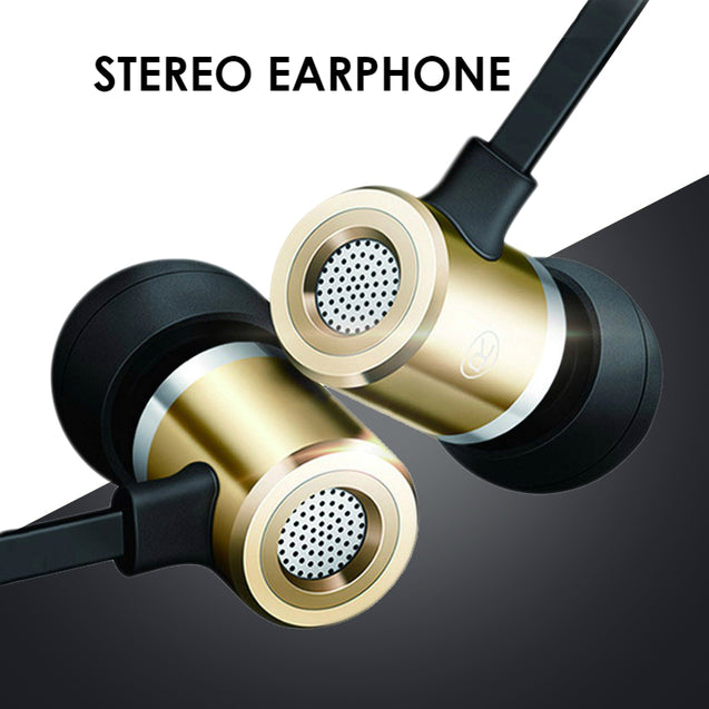 PTron Unison In Ear Headphone With Noise Cancellation For Smartphones (Gold)