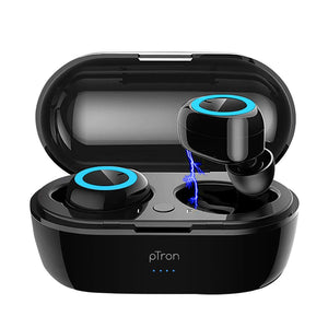 PTron Bassbuds in-Ear True Wireless Bluetooth Headphones (TWS) with Mic For All Smartphones (Black)