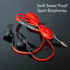 PTron Swift Headset Universal In-Ear Sports Stereo Earphone For All Smartphones (Black/Red)