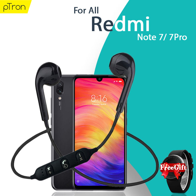 Buy PTron Avento Pro Bluetooth 5.0 Earphones For Xiaomi Redmi Note 7 Pro/Note 7 Get Arrow Watch Free