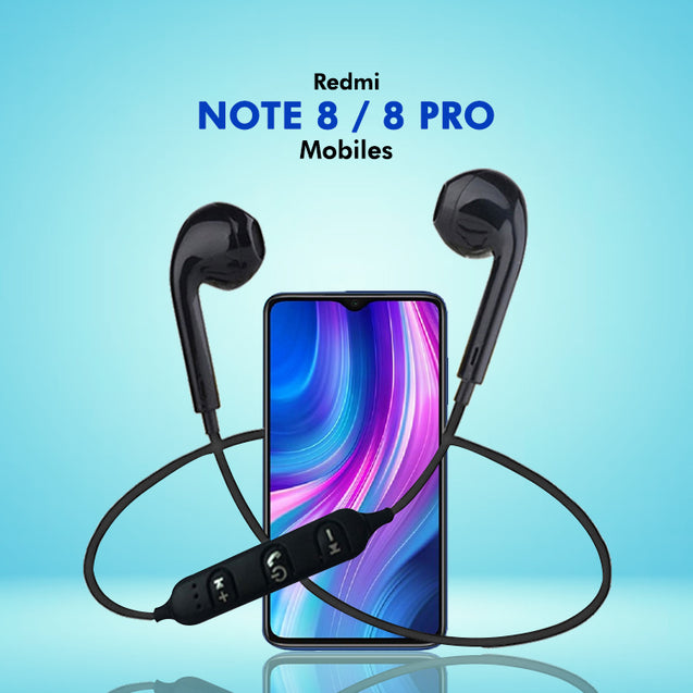 PTron Avento Bluetooth Headphones In-Ear Wireless Headset For Xiaomi Redmi Note 8/Note 8 Pro (Black)