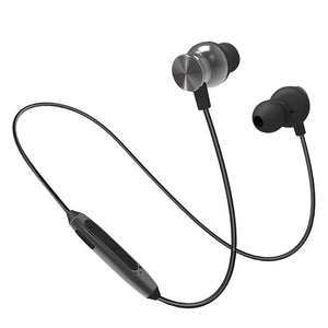 PTron InTunes Pro Magnetic Bluetooth Earphones With Mic For Honor 8x (Grey/Black)
