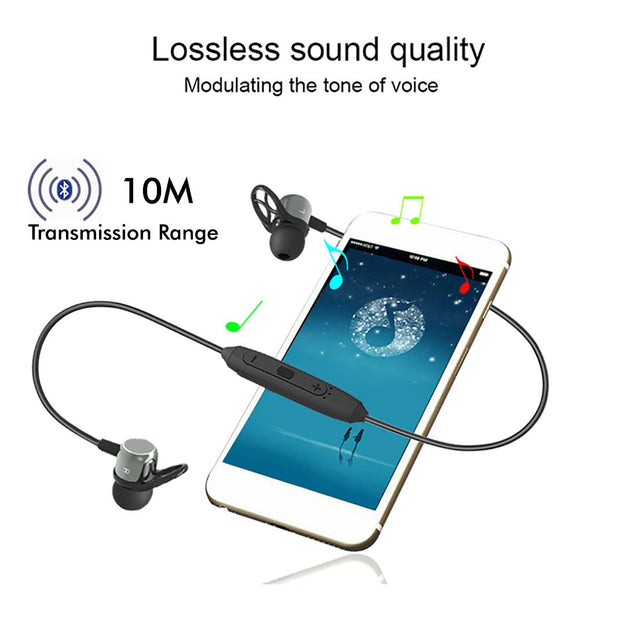 Refurbished - pTron InTunes Evo Bluetooth 5.0 Earphones with Mic for Redmi Note 8/8 Pro - (Grey/Black)