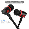 pTron HBE5 Raptor Stereo Sound Bass Wired Headphones with Mic (Black & Red)