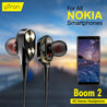 PTron Boom Evo 4D Deep Bass Wired Headphone With Mic For All Nokia SmartPhones (Black/Red)