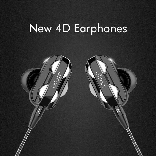Buy Refurbished - PTron HBE6 Earphone Metal Bass Headphone With Mic ,Get pTron Boom Pro 4D In-Ear Wired Earphones with Mic