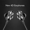 pTron Boom Pro 4D Deep Bass Dual Driver Wired Earphones with Mic for Redmi Note 7 / 7 Pro - (Black)