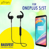 pTron BassFest In-Ear High Bass Stereo Sound Wireless Earphones For Oneplus 5/5T - (Black)