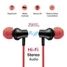 pTron InTunes Beats In-Ear Magnetic Stereo Wireless Neckband with Mic - (Black/Red)