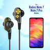 PTron Boom Evo 4D Headphones Deep Bass Stereo Wired Headset For Redmi Note7/7Pro (Black/Gold)