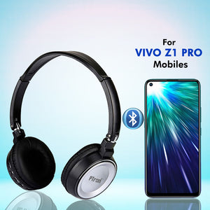 PTron Trips Bluetooth Headset Wireless Stereo Headphone With Mic For Vivo Z1 Pro (Silver)