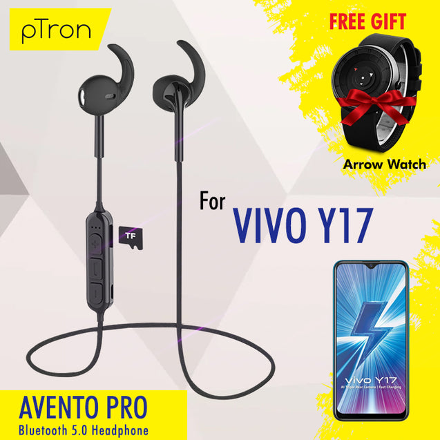 Buy PTron Avento Pro Bluetooth 5.0 Headphones With TF Slot For Vivo y17 , Get Arrow Watch Free Gift