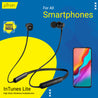 pTron InTunes Lite High Bass In-Ear Wireless Headphones with Mic For All Smartphones - (Black)