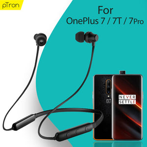 pTron InTunes Lite High Bass In-Ear Wireless Headphones with Mic For Oneplus 7/7T/7 Pro - (Black)
