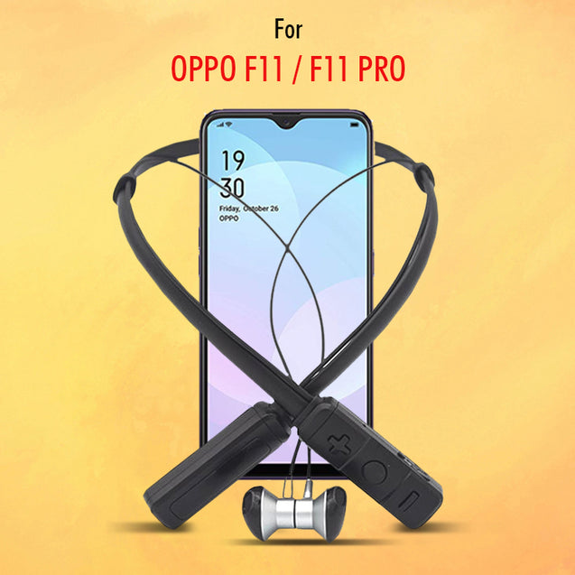 PTron Tangent Pro Wireless Headphone Neckband Bluetooth Headset For Oppo F11 Pro (Grey/Black)