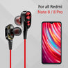 PTron Boom Evo 4D Deep Bass Stereo Sport Wired Headphone  For Xiaomi Redmi  Note 8/ 8 Pro (Black/Red)