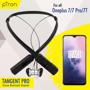PTron Tangent Pro Wireless Headphone Neckband Bluetooth Headset For Oneplus 7/7 Pro/ 7T (Grey/Black)