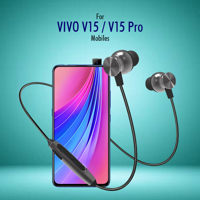 PTron InTunes Pro Magnetic Bluetooth Earphones With Mic For Vivo V15 & V15 Pro (Grey/Black)