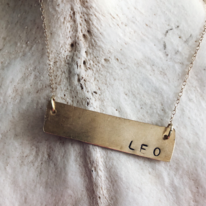 Astrology Nameplate Necklace