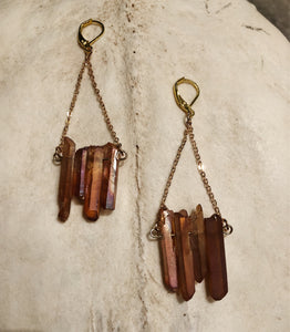 Tangerine Quartz Earrings