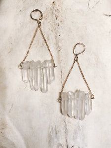 Raw Quartz Earrings