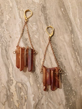 Load image into Gallery viewer, Tangerine Quartz Earrings