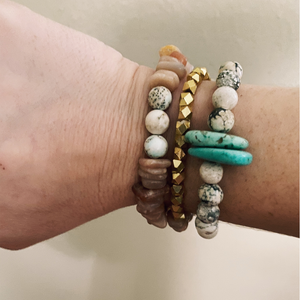 Magnesite and Turquoise Beaded Bracelet