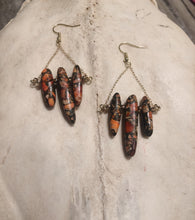 Load image into Gallery viewer, Orange Impression Jasper Earrings