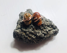 Load image into Gallery viewer, Orange Impression Jasper Studs