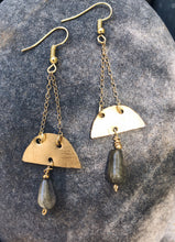Load image into Gallery viewer, Labradorite Morning Star Earrings