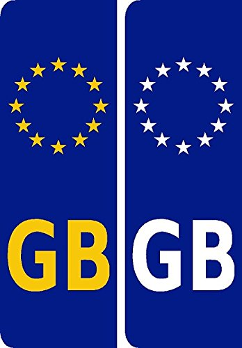 GB Number plate Sticker