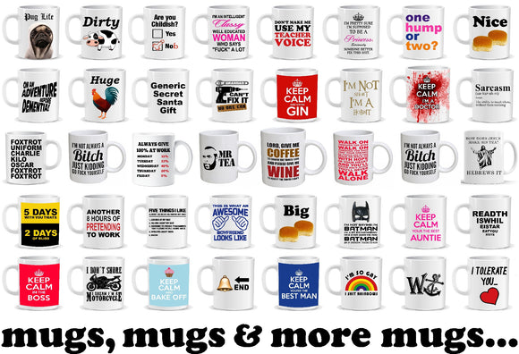 A perfect gift for one and all. Novelty slogan mugs. Perfect christmas or birthday gift ideal for secret santa
