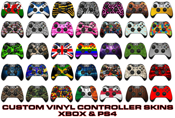 Xbox and PS4 printed sticker skins Ellis Graphix