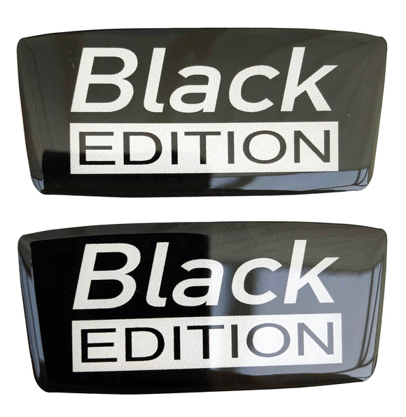 Black Edition Gel Dome Badges Ellis Graphix custom decals